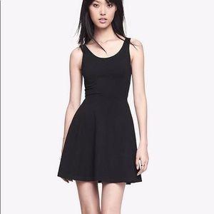 Express Xs Black Skater Dress